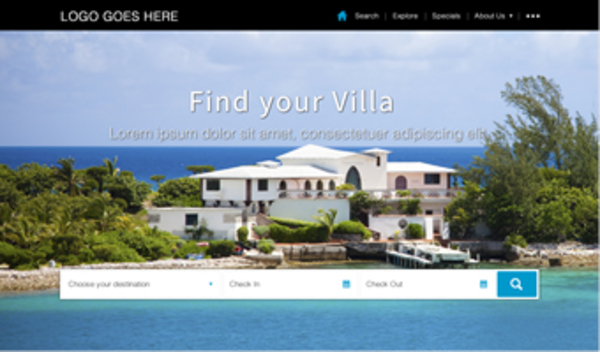 vacation rental website templates and design