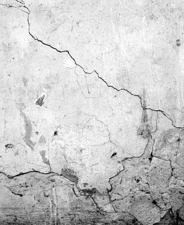 Cracked foundation.