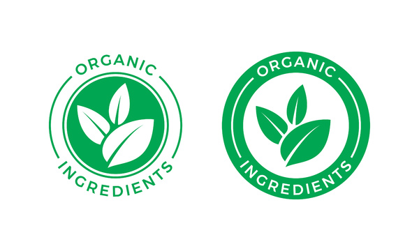 Organic ingredients label.