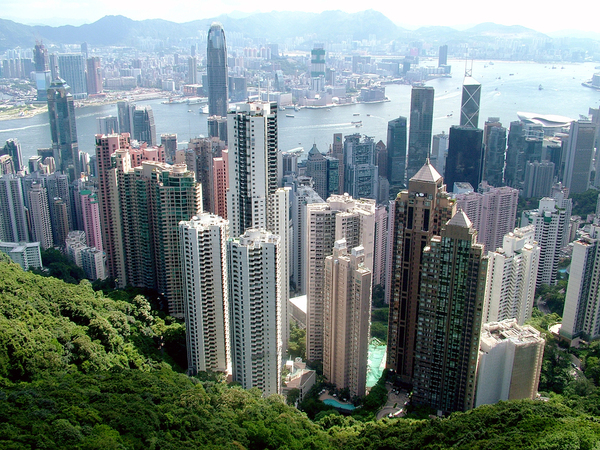 Great view from the peak where it's great place to get shots of Hong Kong skyline