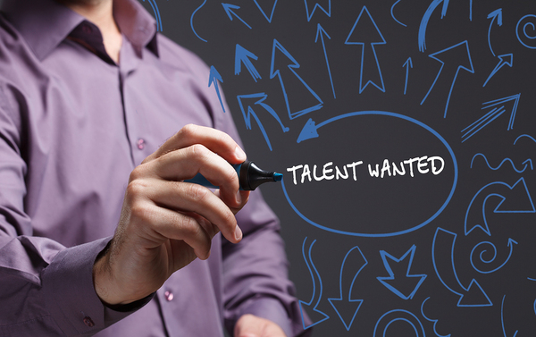 Talent wanted sign.
