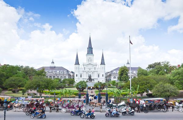 French Quarter in New Orleans Jackson Square