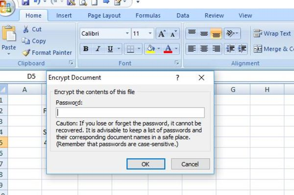 Encrypt document box.