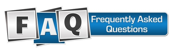FAQ graphic with large capital letters