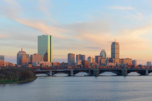 Skyline of Boston.