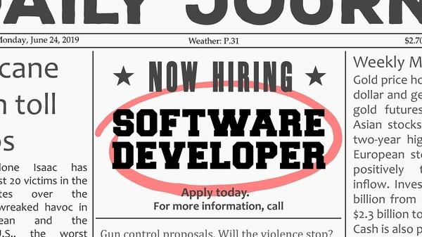 Software developer ad.