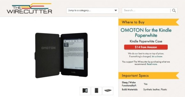 Example of promoted listing, Wirecutter.