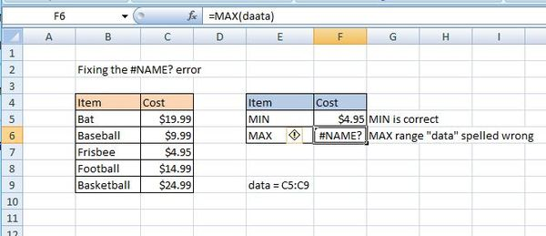 The Name Excel Error How To Find And Fix Name Errors In Excel Excelchat
