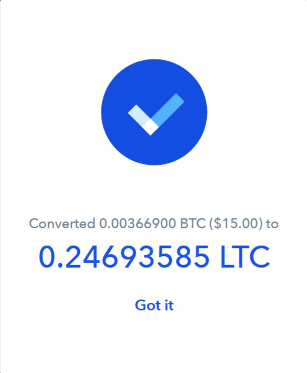 Coinbase converted page.
