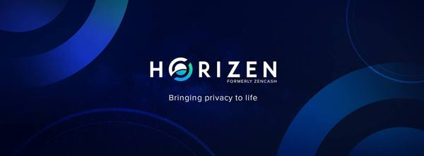 Horizen logo and tag line.