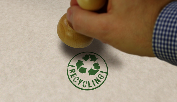 Recycle stamp.