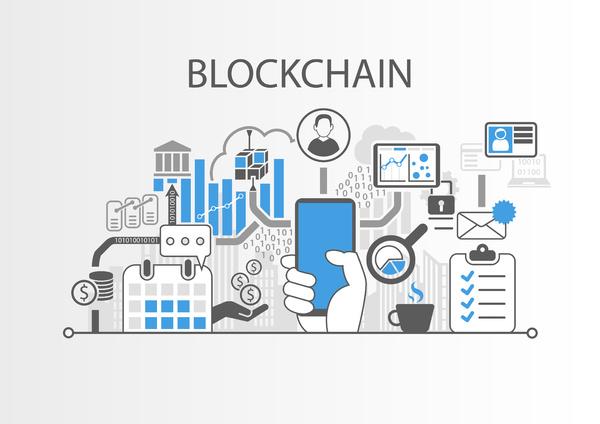 Blockchain charts and graphs.
