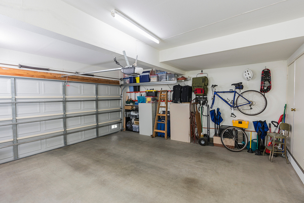 Organized and clean garage space.