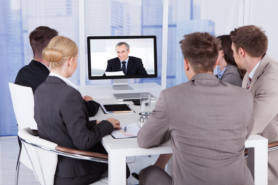 5 people watching corporate video about avoiding cliches
