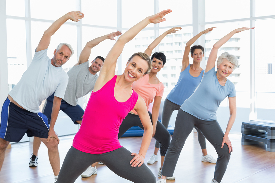 Yoga, and example of a Coprorate Wellness program can be enjoyed by most.
