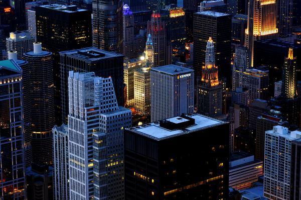 City view at night.