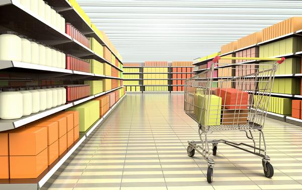 Shopping aisle.