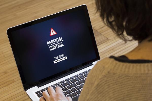 Parental control displayed on a screen.
