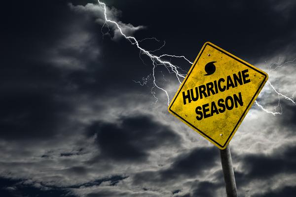 Hurricane season sign