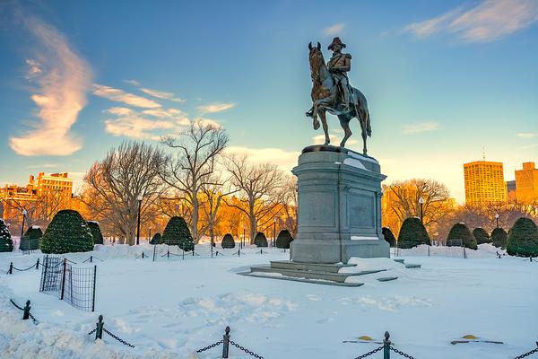 Paul Revere statue in Boston.