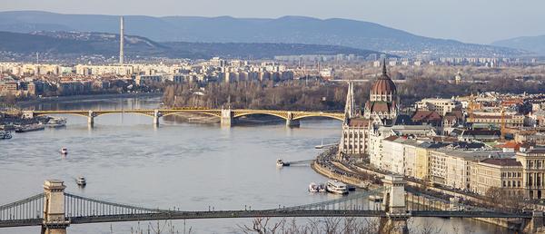 Budapest city view.