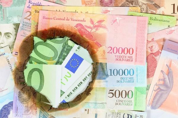Venezuela paper money.