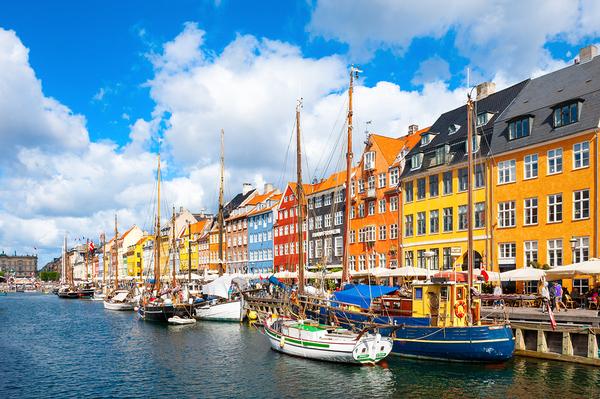 Copenhagen river view.