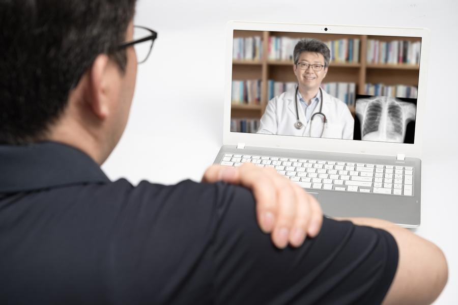 Telemedicine visit.