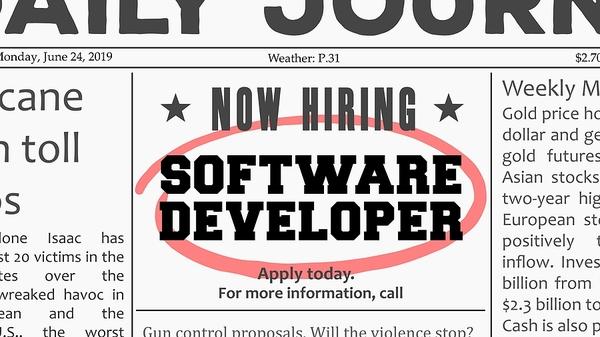 Now hiring ad.