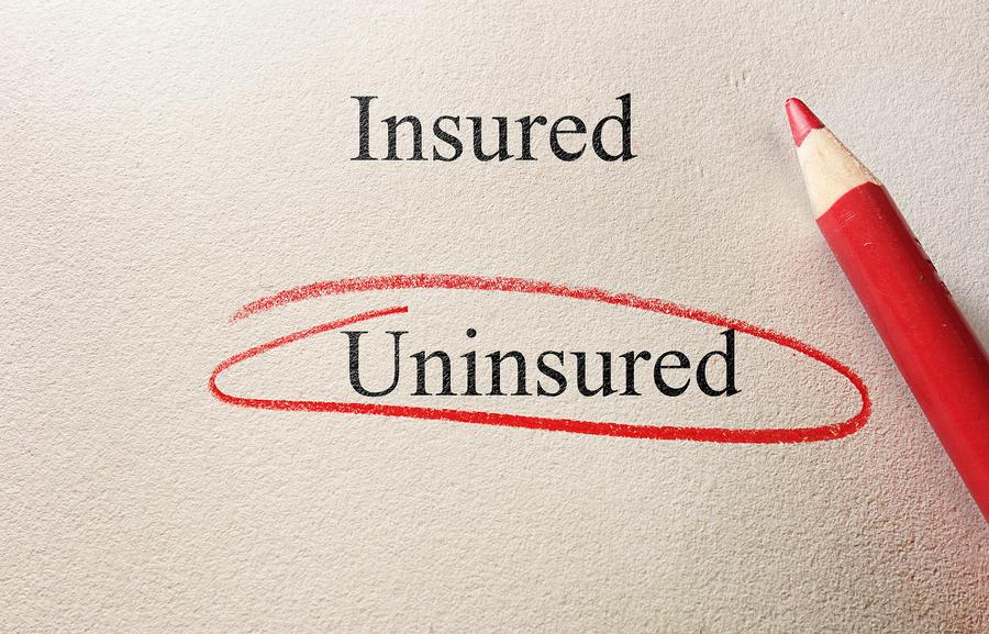 Uninsured circled.