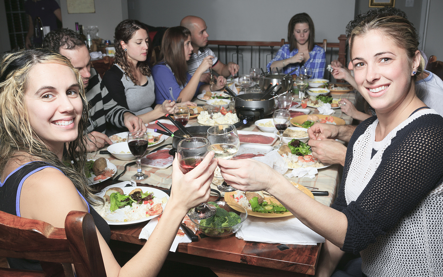 Fondue dinner parties