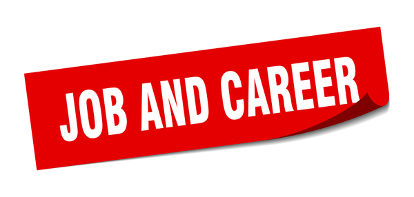 Job and career sign.
