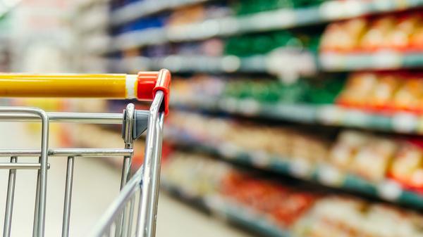 Grocery aisle.
