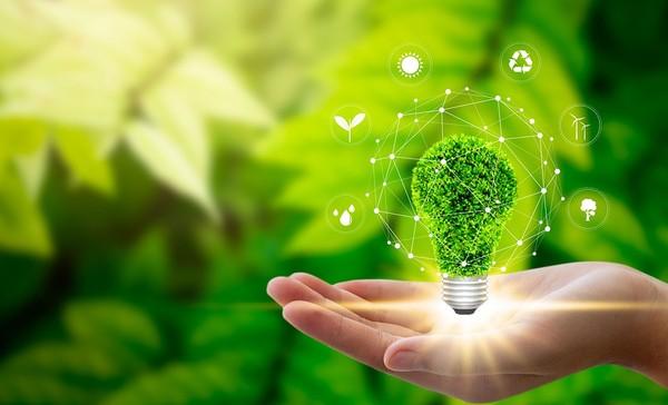 Green lightbulb.
