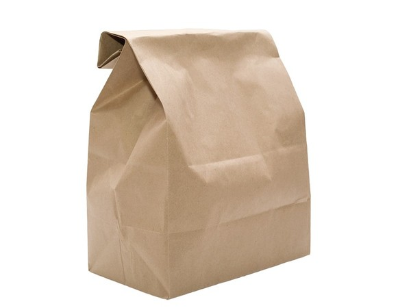 Brown paper bag.
