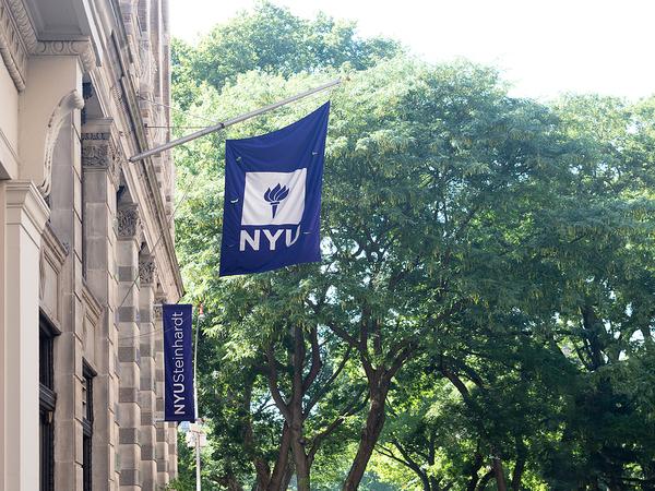 NYU flag.