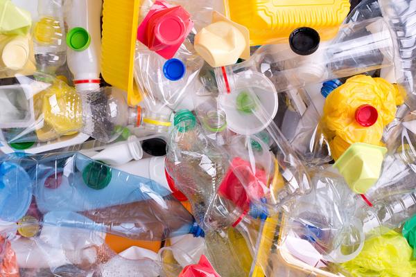 Piles of plastic.