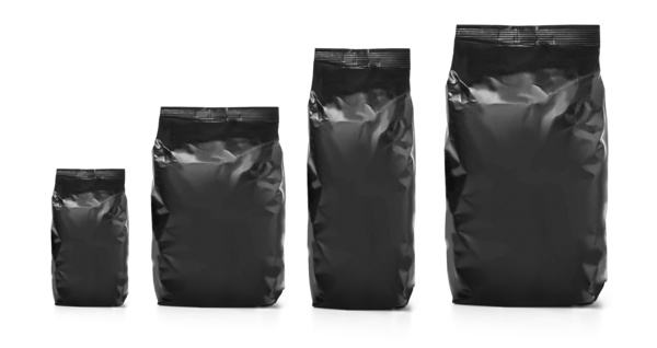 Black packages.
