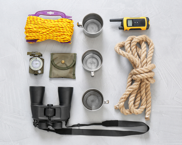 Camping equipment.