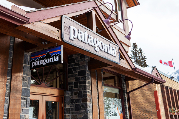 Patagonia store front.
