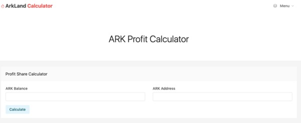 ARK profit calculator.