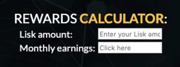 Lisk rewards calculator.