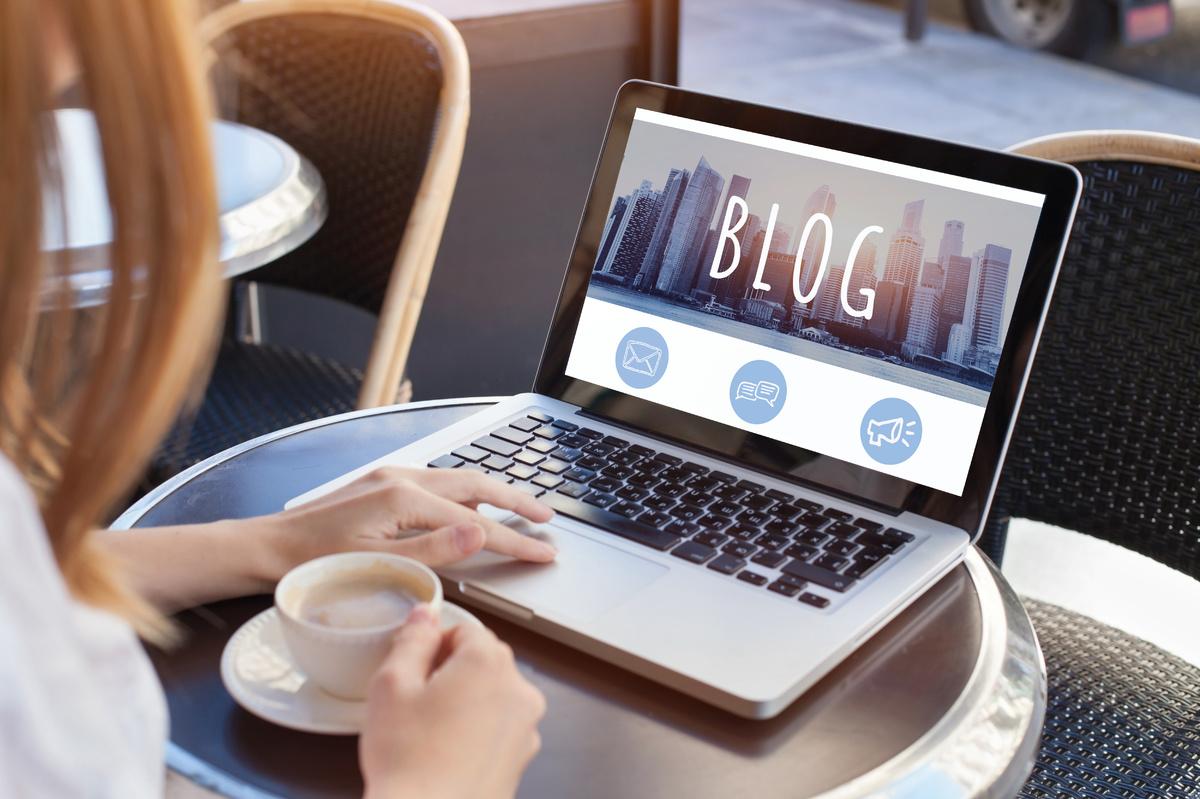 blog image on laptop
