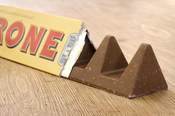 Chocolate bar wrapper.