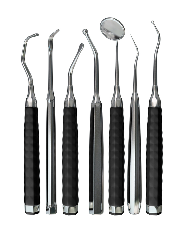 Tools for removing plaque and tartar.