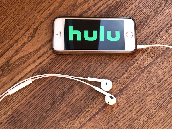 Phone with the Hulu app on display.