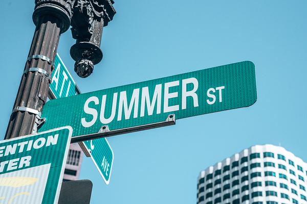 Summer street sign.