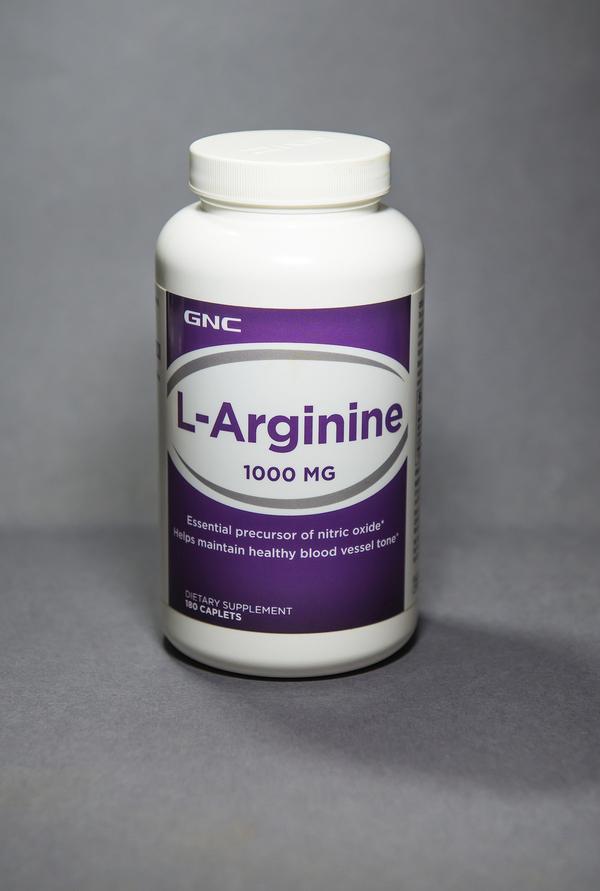 Bottle of L-Arginine.