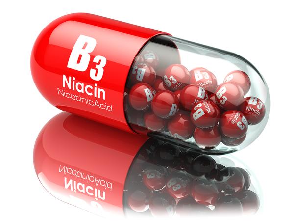 Vitamin B3 capsule.
