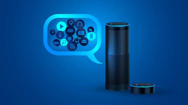 Alexa voice-activated system as an example of a voice search tool, one of the digital marketing trends popular in the later half of 2017